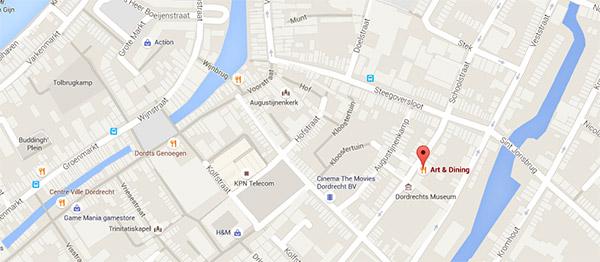 Locatie Art & Dining in Dordrecht | Openingstijden & bereikbaarheid